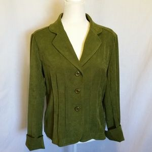Requirements Moss Green Jacket Size 12
